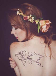 back map tattoo - 25 Awesome Map Tattoos <3 !