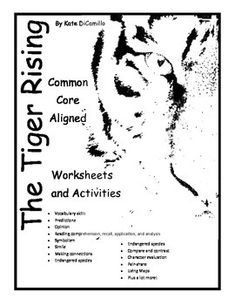 Symbolism Graphic Organizer for The Tiger Rising {Free