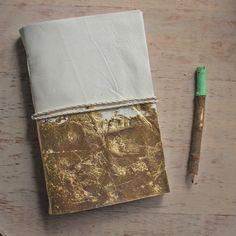 Gold Leaf Mirabella Lambskin Journal