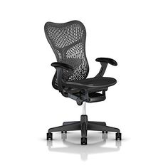 Herman Miller Mirra 2 Task Chair: Tilt Limiter w/Seat Angle Adjustment - FlexFront Adj Seat Depth - Adj Lumbar Support - TriFlex Back - Adj Arms - Graphite Base & Frame High Office Chair, Work Chair, Office Chairs, Desk Chairs, Office Furniture, Furniture Design, Herman Miller, Pc Gaming Chair, Dimples