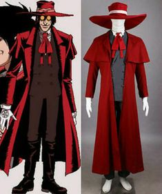 Hot! New Arrival Trigun Vash The Stampede Cosplay Costume Outfit HH.18