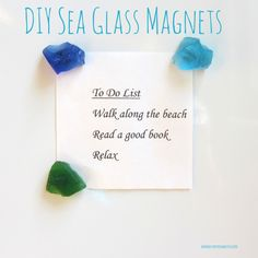 DIY Sea Glass Magnets from CereusArt