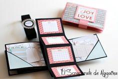 Tutorial Mini Album Pop Up Diy Mini Album, Mini Albums Scrap, Mini Album Tutorial, Mini Scrapbook Albums, Scrapbook Cards, Diy Gifts For Boyfriend, Card Patterns, Pop Up Cards, Card Sketches