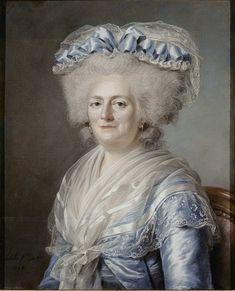 """Madame Victoire"""", by Adelaide Labille-Guiard, 1787 Pastel on Blue Paper, Chateaux de Versailles et de Trianon, France"""