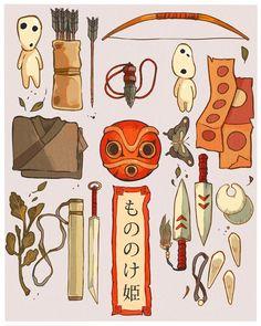 Mononoke's stuff [GHIBLI]