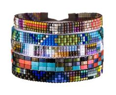 Julie Rofman - Seed Bead Verano Cuff Bracelet in New Back in Stock! at TWISTonline