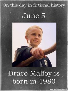 Name:Draco Malfoy - Birthdate:June 5, 1980 - Sun Sign:Gemin - iAnimal Sign:Metal Monkey