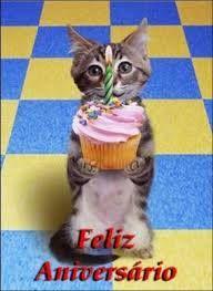 Gatinho do Feliz Aniversário #felicidades #feliz_aniversario #parabens