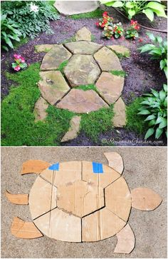 Garden Design, Backyard Landscaping, Garden Decor, Garden Decor Projects, Backyard Garden, Backyard, Garden Steps, Beach Gardens, Garden Stepping Stones Diy