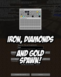 Minecraft Seed:CLW ---> Irons, Diamonds and Gold in spawn Blacksmith Chest!