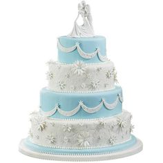 Eternal Embrace Cake - Dedicated to a love that will last through the ages, the Eternal Embrace cake captures romance at its finest. Embossed with the Fondant Imprint Mat and adorned with gum paste daisies, this cake will be a towering success.