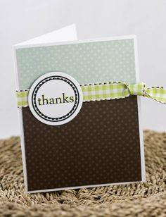 Thank You Card Ideas.  Simple, but nice.