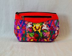 Guatemala  Handmade Large Makeup Bag  Geometric by PIDcrafts