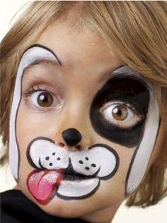 Modele de pictat copilul pe fata de Halloween