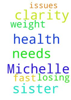 Please pray for my sister Michelle, she needs clarity -  Please pray for my sister Michelle, she needs clarity on what to do with her health. She is having some health issues and losing weight fast. Thank you Posted at: https://prayerrequest.com/t/HY5 #pray #prayer #request #prayerrequest