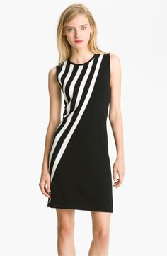 Milly Stripe Merino Wool Shift Dress | Nordstrom