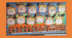I just LOVE fall, and fall bulletin boards are fun to make!  So when I saw this project that Hadar from Miss Kindergarten made with these scarecrows and crows, I just couldn't resist!