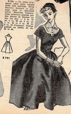 The 1950s-1952 Bonnes soirées-Autumn fashion by april-mo, via Flickr