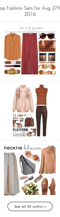 """""""Top Fashion Sets for Aug 27th, 2016"""" by polyvore ❤ liked on Polyvore featuring MANGO, Acne Studios, Sigerson Morrison, Michael Kors, Faber-Castell, Gorjana, Bésame, Gianvito Rossi, Rebecca Minkoff and summerstyle"""