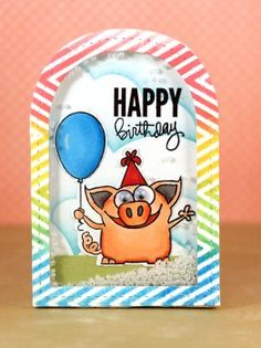Such an Adorable shaker card by Jana Millen using Simon Says Stamp Exclusives.  August 2014