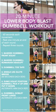 Lower Body HIIT Dumbbell Workout - lower body HIIT workout + the lululemon crops that will get you through it. The new lululemon Everlux fabric is THE BEST for sweaty workouts whether it's hot yoga, HIIT or a long run. Hiit Workout At Home, 20 Minute Workout, Insanity Workout, Best Cardio Workout, Dumbbell Workout, Workout Challenge, At Home Workouts, Workout Fitness, Body Workouts