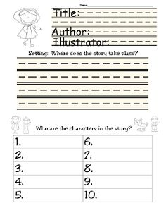 Little Red Riding Hood Story Elements