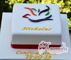 Confirmation Dove Cake - AC213 - Amarantos Cakes Religious Cakes, Confirmation Cakes, Communion Cakes, Colorful Cakes, Occasion Cakes, Cupcake Cakes, Cupcakes, Holiday Recipes, Special Occasion