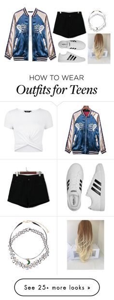 """""""Untitled #422"""" by besho-j on Polyvore featuring New Look, adidas and Monsoon"""