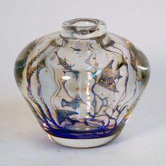 """Fishgraal"" glass vase by Edward Hald for Orrefors N7809 – Freeforms"