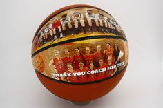 Unique sports gift - customized basketball for your basketball coach, perfect for senior night, end of season night.