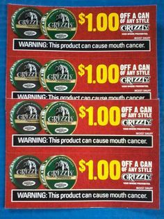 Grizzly Tobacco Coupons Pouch Snufffd Grizzly Tobacco Grizzly Grizzly Snuff