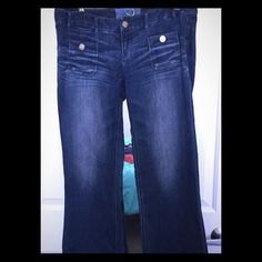 Flared hipster Jeans Very soft hipster denim. The flare is quite wide.Thanks for looking. Express Jeans Flare & Wide Leg
