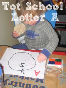 Tot School Printables Letter A is for Apple from Wildflower Ramblings #totschool