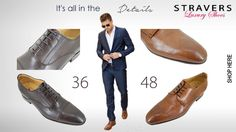 New line of #business #men #shoes. #Dress shoes with subtle details. #small and #large #sized shoes 36 to 48. See all models in your size at https://stravers.shoes