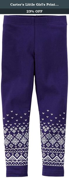Carter's Little Girl's Print Leggings (Toddler/Kid) - Purple Fairisle - 4T. Carter's Print Leggings (Toddler/Kid) - Purple Fairisle Carter's is the leading brand of children's clothing, gifts and accessories in America, selling more than 10 products for every child born in the U.S. Their designs are based on a heritage of quality and innovation that has earned them the trust of generations of families. Features: Cambodia 95% Cotton/5% Elastane.