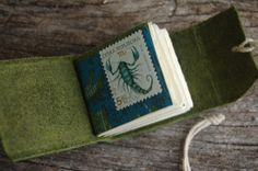 Traveling Tiny  Mini Journal  green hand bound by TravelingChariot, $17.00