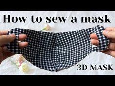 How to make super-fast masks at home masks) – schutzmaske Easy Face Masks, Diy Face Mask, Diy Sewing Projects, Sewing Hacks, Sewing Patterns Free, Free Sewing, Mascara 3d, Pocket Pattern, Diy Mask
