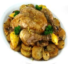 Lemon-Herb Slow-Cooked Chicken