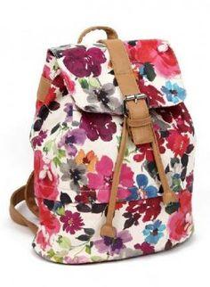 Vintage Printed Flora Backpack