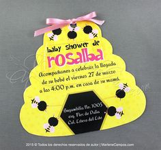 Bumble Bee Invitation  Printable Invitation girls by PaperArtbyMC