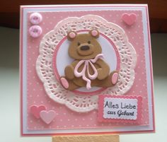 Marianne Design Cards, New Baby Cards, Cricut Cards, Card Stock, New Baby Products, Baby Shower, Etsy, Stamp, Card Crafts