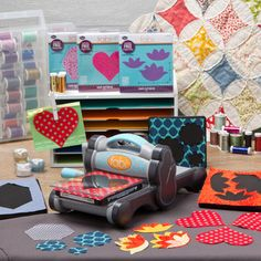 Shop for Sizzix fabi Quilting Die Cut Machine + 4 Bigz Quilting Dies. Get free delivery On EVERYTHING* Overstock - Your Online Scrapbooking Shop! After Christmas Sales, Fabric Cutter, Die Cut Machines, Arts And Crafts, Paper Crafts, Vintage Crafts, Quilting Tips, Vintage Quilts, Quilt Making