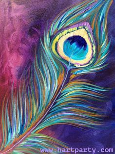 Peacock Feather By Cinnamon Cooney The Art Sherpa as a Fully guided art… Peacock Painting, Peacock Art, Peacock Colors, Peacock Feathers Drawing, Peacock Canvas, Purple Painting, Peacock Design, The Art Sherpa, Pastel Art