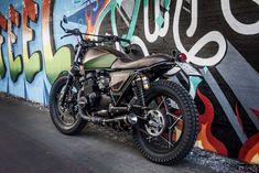Awesome! Suzuki GS400 Street Tracker ''TrackerWood'' by Shaka Garage. Good day…