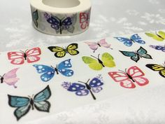 Butterfly washi tape 10M dancing butterfly by TapesKingdom on Etsy