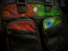 Yin yan, colorful bag by Luiza Poreda
