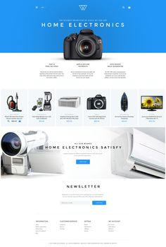 Shopify Template , Home Electronics