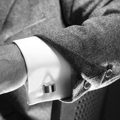 cufflinks. you're dressed.
