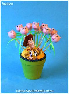 Toy Story Cake Pops by Cakes.KeyArtStudio.com, via Flickr