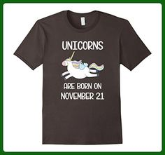 Mens Retro Vintage Born November 21st Funny Unicorn Birthday Tee XL Asphalt - Retro shirts (*Amazon Partner-Link)